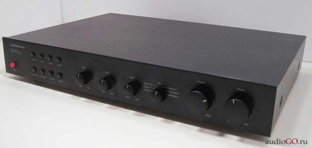 лицевая панель audiosource pre amp one