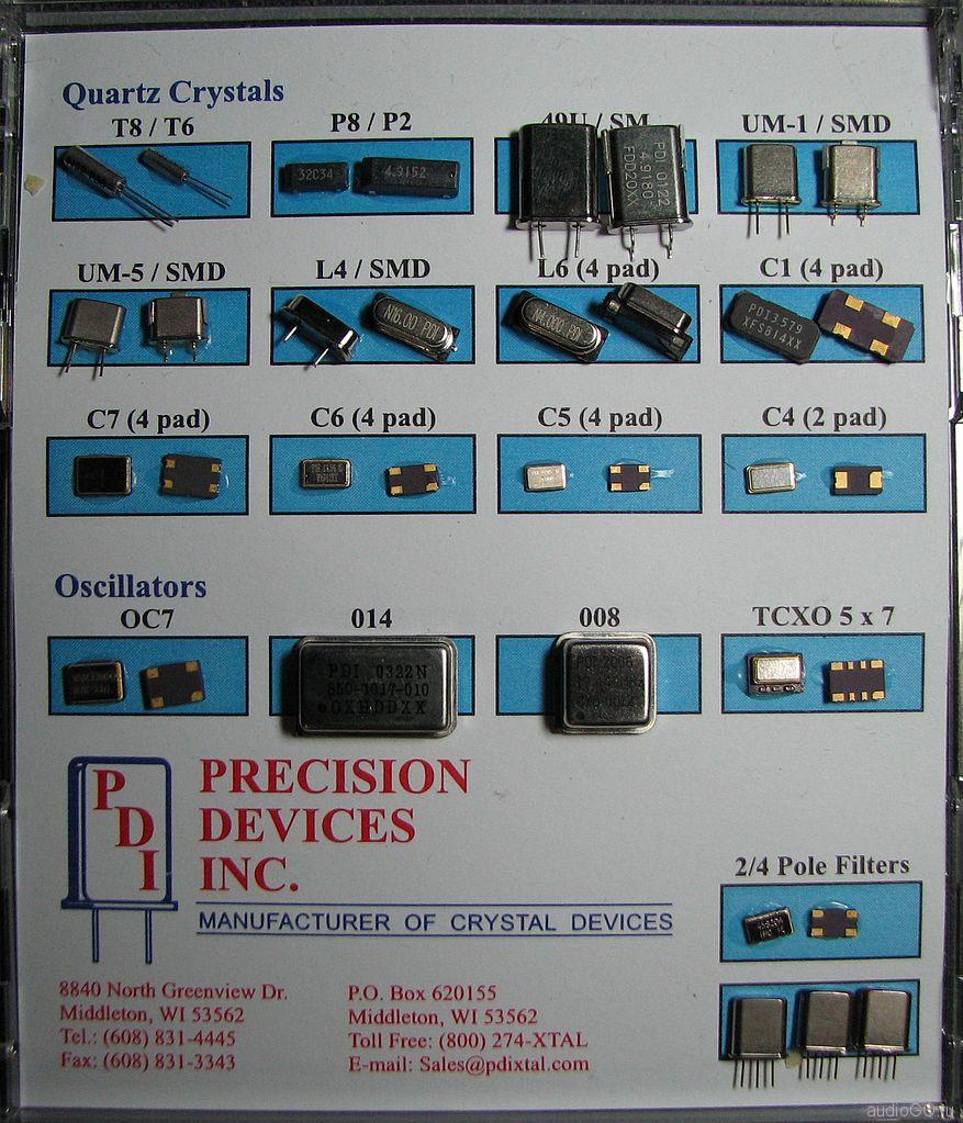 набор кварцеквых генераторов
