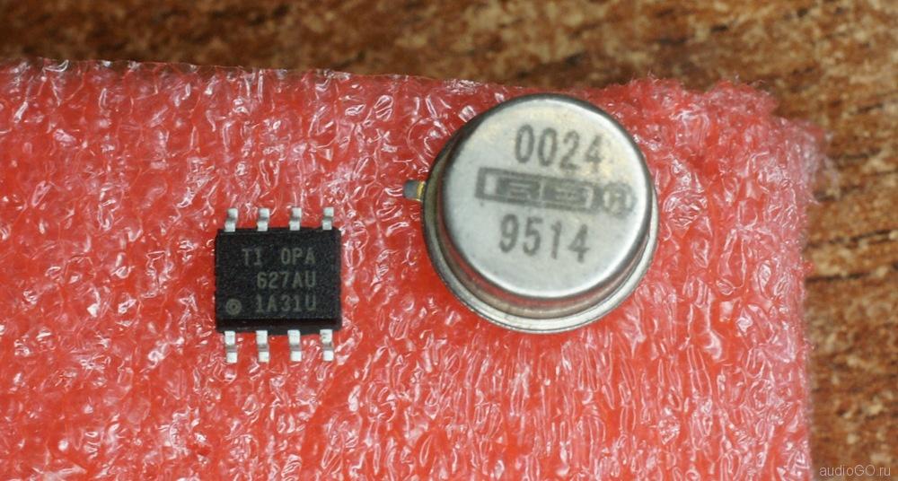 оригинальная и поддельная микросхема opa627
